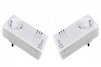Plc адаптер qpla 200v 2p для передачи интернета до 200 Мбит в секунду